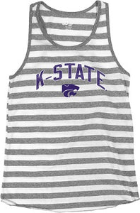 Kansas State Wildcats Womens Ari Stripe Triblend Tank Top - 2007705