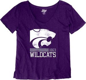 Kansas State Wildcats Women's Jena V-Neck T-Shirt - 2007706