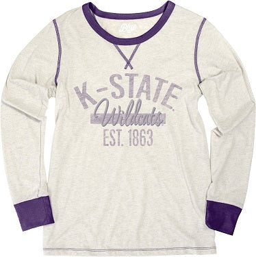 Kansas State Wildcats Women's Anna Long Sleeve Triblend T-Shirt - 2007709