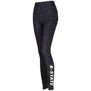 Kansas State Wildcats Women's Dedication Black Camo Leggings - 2007723