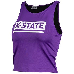 Kansas State Wildcats Women's Fourth Down Crop Top - 2007728