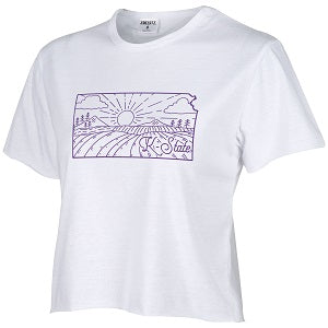 Kansas State Wildcats Women's Humble Crop Top T-Shirt - 2007732