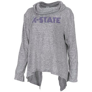 Kansas State Wildcats Women's Stadium Cowl Neck Sweater - 2007735