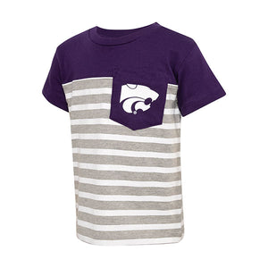 Kansas State Wildcats Toddler Color Block Stripe Pocket T-Shirt - 2007758