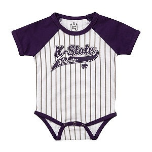 Kansas State Wildcats Infant Baseball Stripe Onesie - 2007764