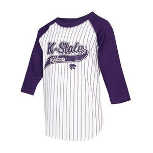 Kansas State Wildcats Toddler 3/4 Sleeve Stripe Baseball T-Shirt - 2007765