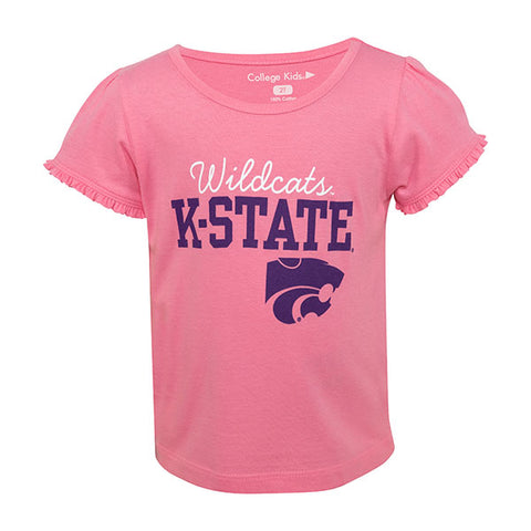 Kansas State Wildcats Toddler Girls Ruffle T-Shirt - 2007781