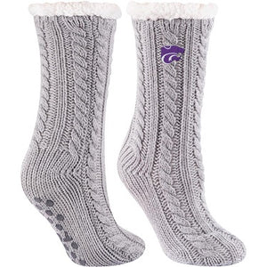 Kansas State Wildcats Miss Chalet Cozy Slipper Socks - 2007797