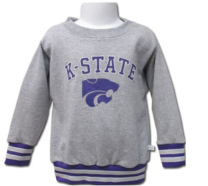 Kansas State Wildcats Toddler Fleece Crewneck Sweatshirt with Athletic Ribbing - 2007805