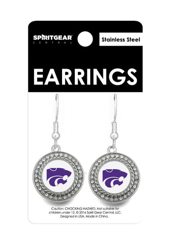 Kansas State Wildcats Dangle Earrings - 2007839