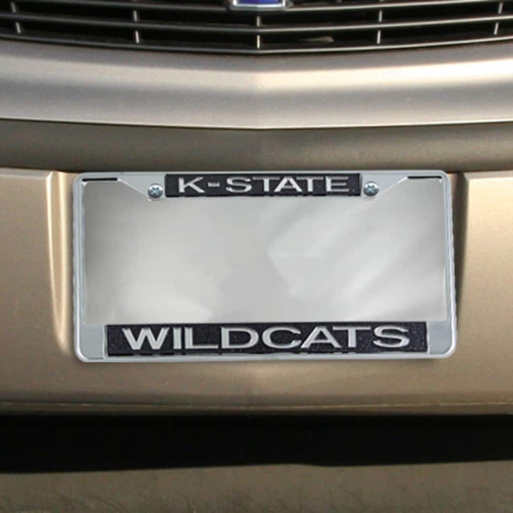 Kansas State Wildcats Black Glitter License Plate Frame - 2007877