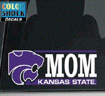 Kansas State Wildcats Mom Color Shock Decal - 2007884
