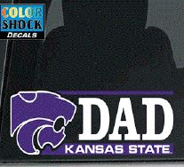 Kansas State Wildcats Dad Color Shock Decal - 2007885