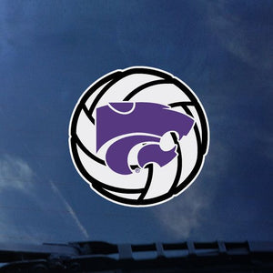Kansas State Wildcats Volleyball Color Shock Decal - 2007889
