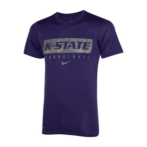 Kansas State Wildcats Nike Dri-Fit Legend Short Sleeve Basketball Practice Tee - 2007919