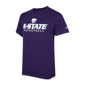 Kansas State Wildcats Champion Cotton Short Sleeve Basketball T-Shirt - 2007981