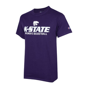Kansas State Wildcats Champion Cotton Short Sleeve Women's Basketball T-Shirt - 2007982