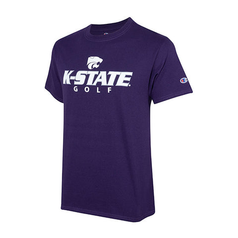 Kansas State Wildcats Champion Cotton Short Sleeve Golf T-Shirt - 2007987