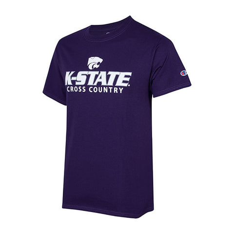 Kansas State Wildcats Champion Cotton Short Sleeve Cross Country T-Shirt - 2007988