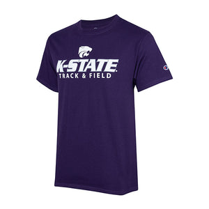 Kansas State Wildcats Champion Cotton Short Sleeve Track & Field T-Shirt - 2007989