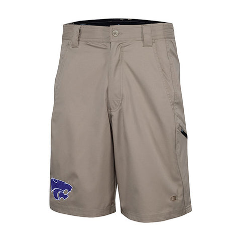 "Kansas State Wildcats Champion Double Dry Woven 10"" Khaki Short - 2008003"