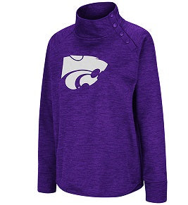 Kansas State Wildcats Ladies Magic Marled Snap Pullover - 2008008