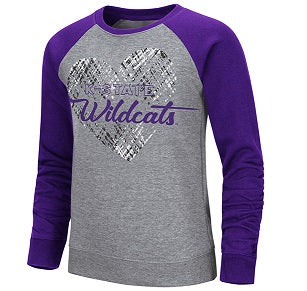 Kansas State Wildcats Girls Camilla Crew Fleece Pullover - 2008019