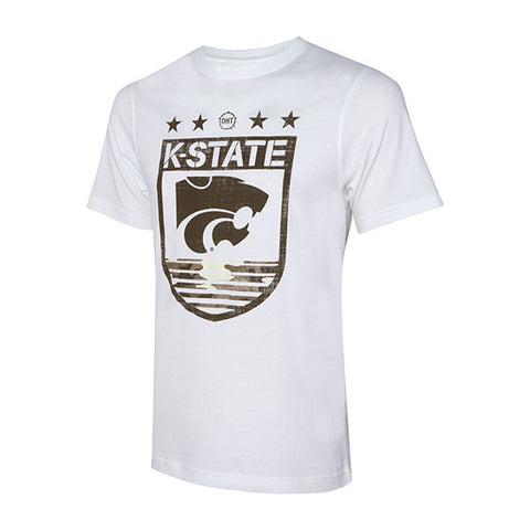 Kansas State Wildcats Operation Hat Trick Men's Short Sleeve White T-Shirt - 2008051