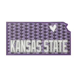 Kansas State Wildcats Heart City Sticker - 2008057