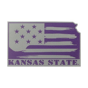 Kansas State Wildcats Confounded Flag Sticker - 2008059