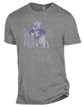 Kansas State Wildcats Wabash Collection Keeper Leaning Wildcat Mascot T-Shirt - 2008081