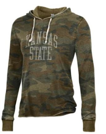 Kansas State Wildcats Women's Day Off Camo Hoodie - 2008087