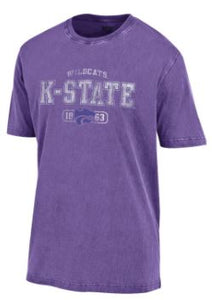 Kansas State Wildcats Outta Town Washed Cornflower Short Sleeve T-Shirt - 2008094