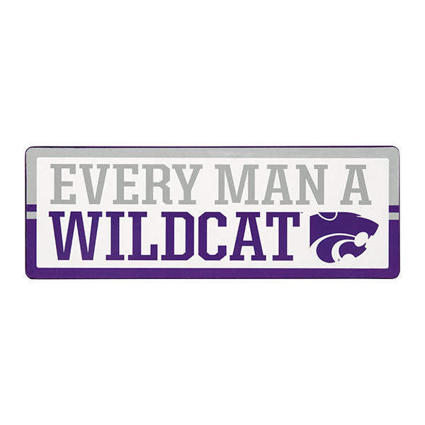 Kansas State Wildcats Every Man A Wildcats Wood Sign - 2008114
