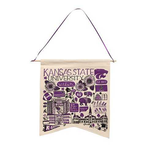 Kansas State Wildcats Julia Gash Artist Canvas Banner - 2008199