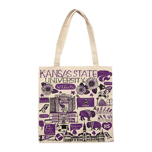 Kansas State Wildcats Julia Gash Artist Canvas Tote - 2008198
