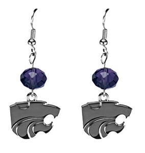 Kansas State Wildcats Beaded Drop Earrings - 2008211