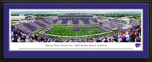 Kansas State Wildcats Football Deluxe Framed Panoramic Print - 2008231