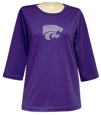 Kansas State Wildcats Ladies Powercat Rhinestone T-Shirt - 2008272