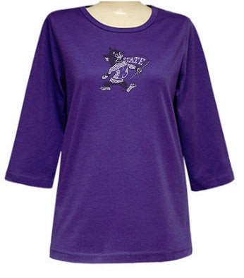Kansas State Wildcats Ladies Willie the Wildcat Bling T-Shirt - 2008273