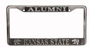 Kansas State Wildcats Alumni Pewter License Plate Frame - 2008274