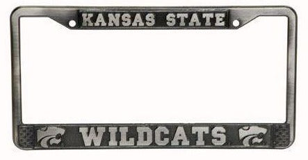 Kansas State Wildcats Pewter License Plate Frame - 2008275