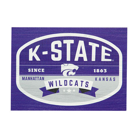Kansas State Wildcats Large Rectangle Block - 2008288
