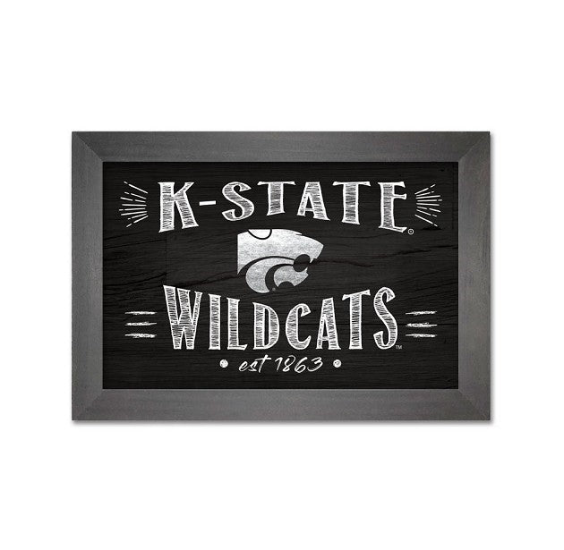 Kansas State Wildcats 7x10 Wood Framed Art - 2008292