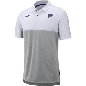 Kansas State Wildcats Nike Men's Grey Breathe Coaches Early Season Polo - 2008298