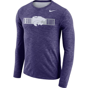 Kansas State Wildcats Nike Dri-Fit Cotton Long Sleeve Slub Powercat T-Shirt - 2008318