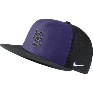Kansas State Wildcats Nike Black & Purple Aero True Baseball Fitted Hat - 2008323