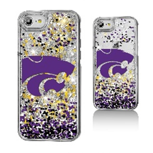 Kansas State Wildcats Glitter Confetti iPhone Case - 2008344
