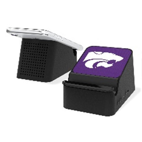 Kansas State Wildcats Solid Wireless Charging Station and Bluethooth Speaker - 2008348