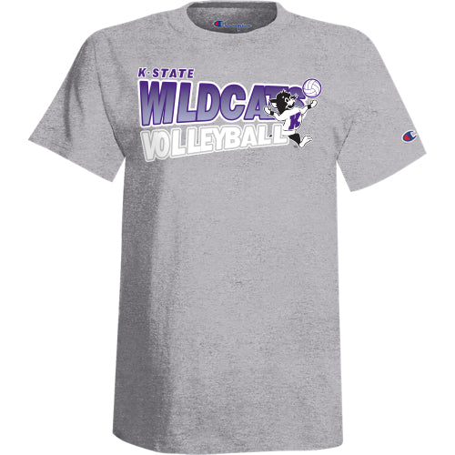 Kansas State Wildcats Champion Willie the Wildcat Volleyball T-Shirt - 2008357